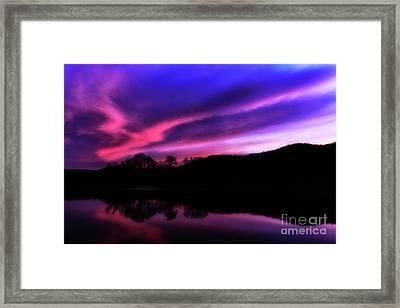 Stonewall Jackson Lake Dawn Framed Print