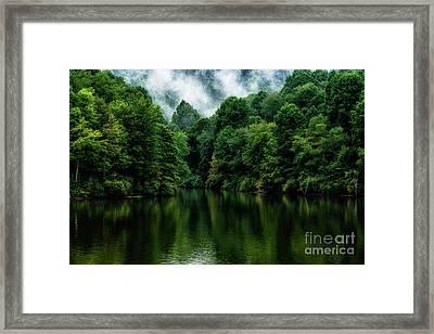 Stonewall Jackson Lake Reflection Framed Print