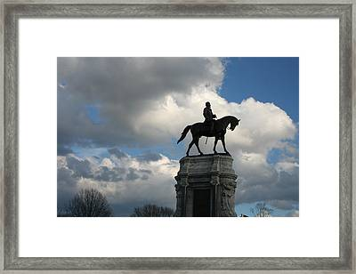 Stonewall Jackson Statue Framed Print by Trish Jenkins