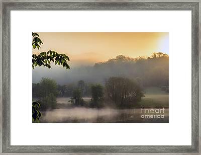 Stonewall Lake Sunrise Framed Print by Thomas R Fletcher