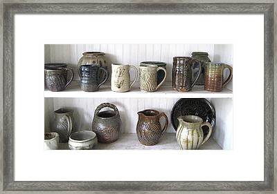 Stoneware Cups Framed Print by Stephen Hawks