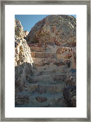 Framed Print featuring the photograph Stoneway by Lori Mellen-Pagliaro