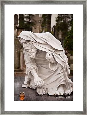 Stonework Of Chronos Sculpture Framed Print