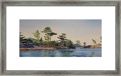 Stoney Lake Morning Framed Print by Debbie Homewood