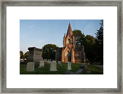 Framed Print featuring the photograph Stonington Ct Cemetery  by Kirkodd Photography Of New England