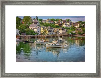 Stonington Harbor Evening Framed Print
