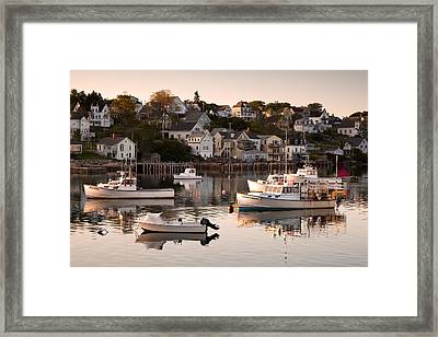 Stonington Harbor Framed Print by Patrick Downey