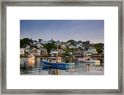 Stonington Harbor Framed Print by Susan Cole Kelly