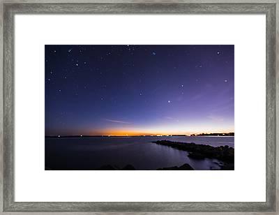 Stonington Skies Framed Print