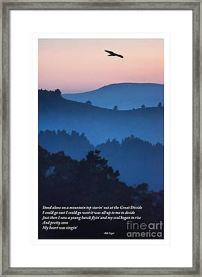 Stood Alone On The Mountain Top Framed Print