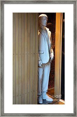Stood Waiting Framed Print by Valerie Marsden