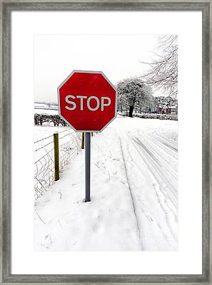 Stop Framed Print by Adrian Evans