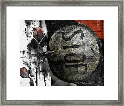 Stop And...... Framed Print by Bob Salo