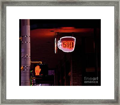 Stop And Sip Framed Print
