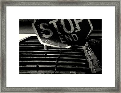 Stop End Framed Print