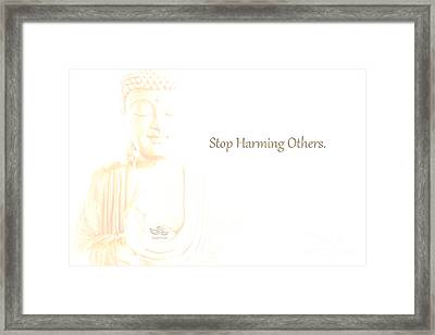 Stop Harming Others Framed Print