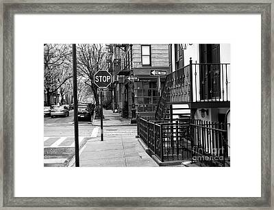 Stop In Greenwich Village Framed Print