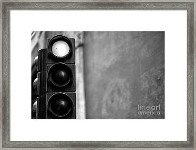 Stop In Rome Framed Print by John Rizzuto