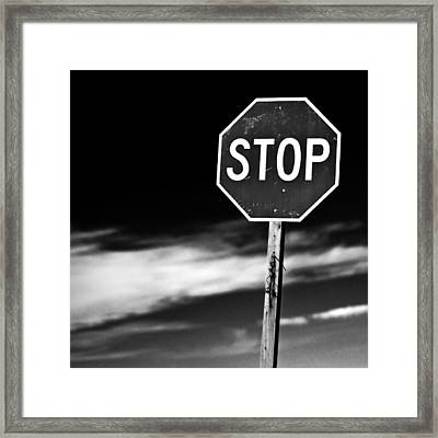 Stop Framed Print by James Bull