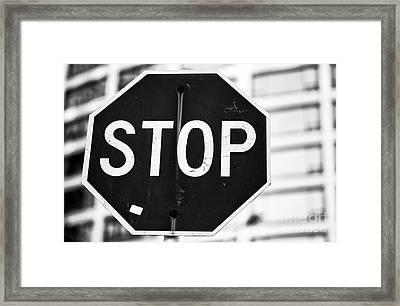 Stop Framed Print by John Rizzuto
