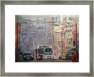 Stop Light Framed Print by Victoria Heryet