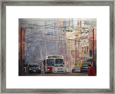 Stop Light Framed Print by Victoria Heryet