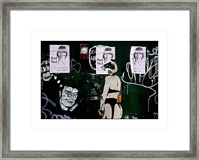 Stop Looking All Of You Framed Print by Jez C Self