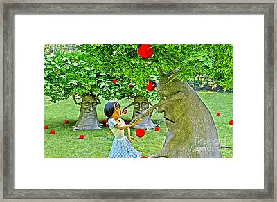 Stop Picking My Apples Framed Print by Methune Hively