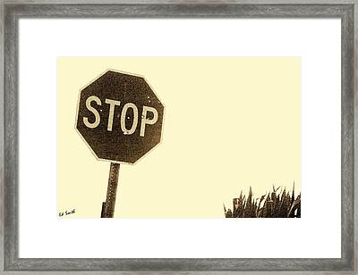Stop Shooting Stop Signs Framed Print by Ed Smith