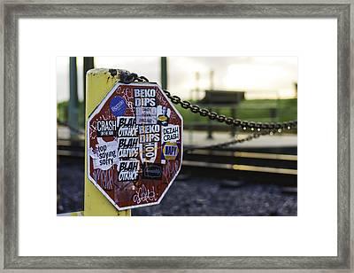 Stop Sign Ala New Orleans, Louisiana Framed Print