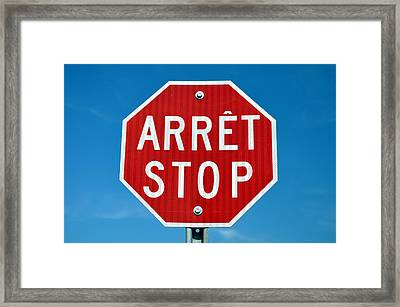 Stop Sign. Framed Print by Fernando Barozza