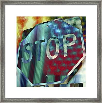 Stop Sign Framed Print