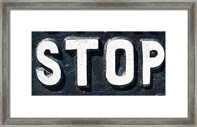 Stop Sign Framed Print by Tom Gowanlock