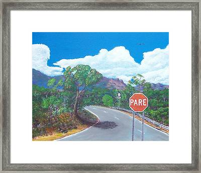 Stop Sign Framed Print by Tony Rodriguez