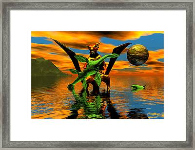Stop Struggling My Precious Framed Print by Claude McCoy
