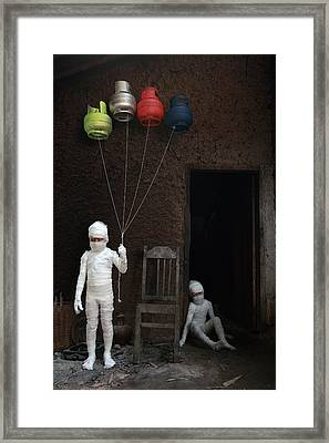 Stop... (victims Of Gas Cylinders) Framed Print
