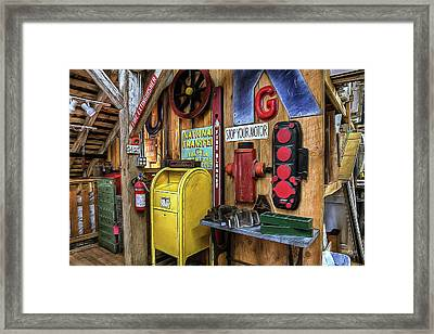 Stop Your Motor Framed Print