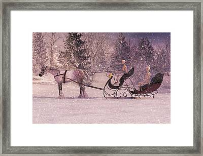 Stopping By Woods Framed Print
