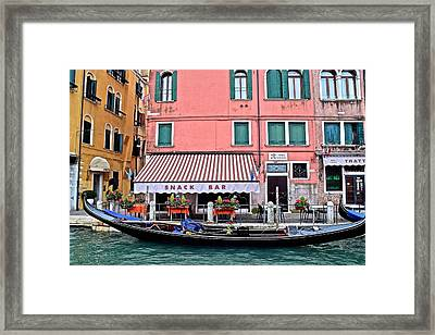 Stopping Off At The Store Framed Print