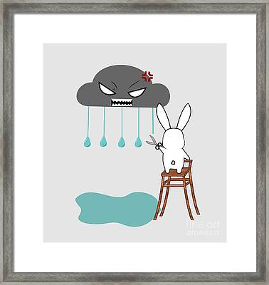 Stopping The Rain Framed Print by Kourai