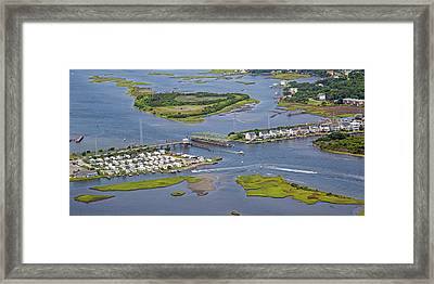 Stopping Traffic Topsail Island Framed Print by Betsy Knapp