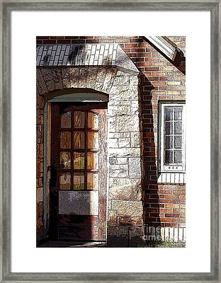 Storage Door Framed Print