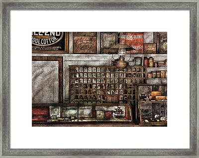 Store - For All Of Your Needs And Supplies Framed Print by Mike Savad