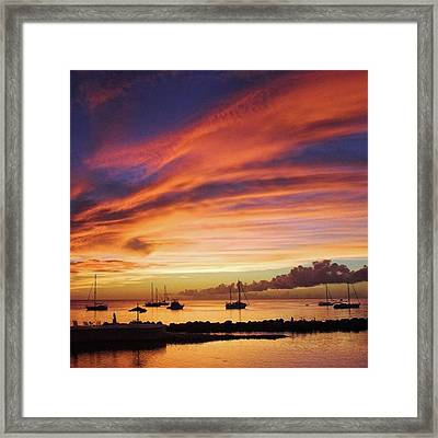 Store Bay, Tobago At Sunset #view Framed Print