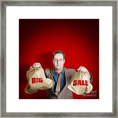 Store Discount Promotion. Big Sale Framed Print