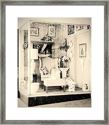 Store Display Framed Print by Rudy Umans
