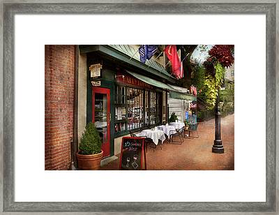 Store Front - Annapolis Md - Harry Brownes Framed Print