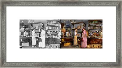 Store - In A General Store 1917 Side By Side Framed Print