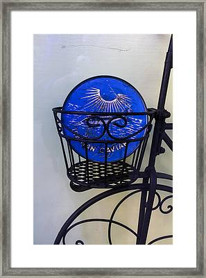 Store Window Display Caviar Ad Framed Print by Robert Ullmann