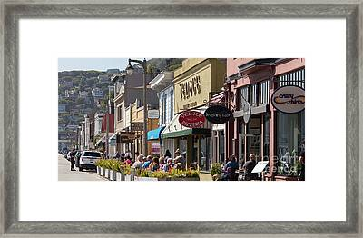 Stores And Restaurants On Bridgeway Sausalito California 5d2890long Framed Print